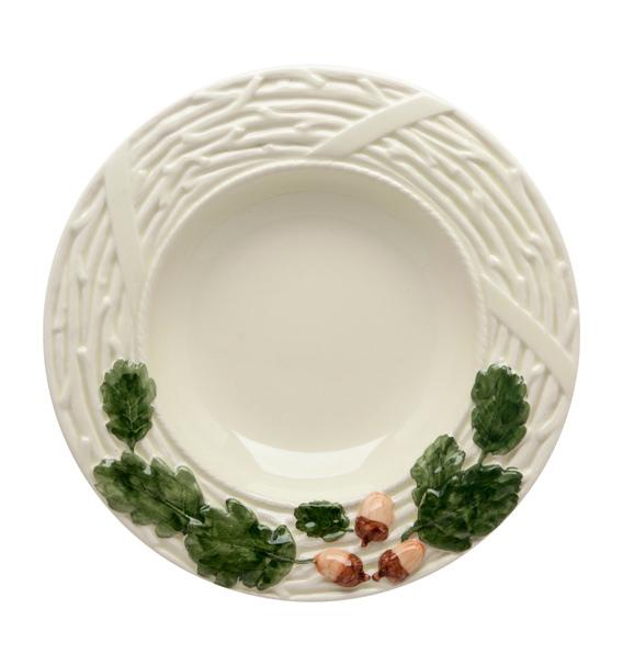 Набор 4 суповых тарелки Bordallo Pinheiro Bolotas Ø25см