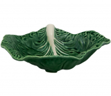 Блюдо сервировочное Bordallo Pinheiro Cabbage 35x25см Зеленое