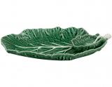 Набор 2 блюда с соусником Bordallo Pinheiro Cabbage 28x20см Зеленый
