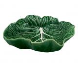 Блюдо овальное Bordallo Pinheiro Cabbage 26x25см, зеленое