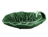 Блюдо-лист глибоке Bordallo Pinheiro Cabbage 25x25см Зелене