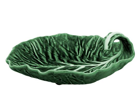 Блюдо-лист глубокое Bordallo Pinheiro Cabbage 25x25см Зеленое