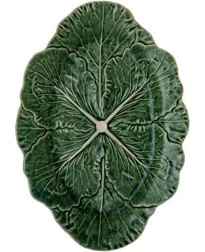 Набор 2 сервировочных блюда Bordallo Pinheiro Cabbage 37x26см Зеленый
