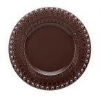Набір 4 десертних тарілки Bordallo Pinheiro Fantasia Ø22см Коричневі