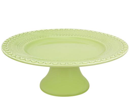 Блюдо на ноге Bordallo Pinheiro Fantasia Ø28см Светло-зеленое