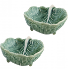 Набор 6 салатников Bordallo Pinheiro Cabbage 9x7.5см Зеленые