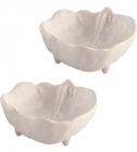 Набір 4 салатника Bordallo Pinheiro Cabbage 9x7.5см Бежеві
