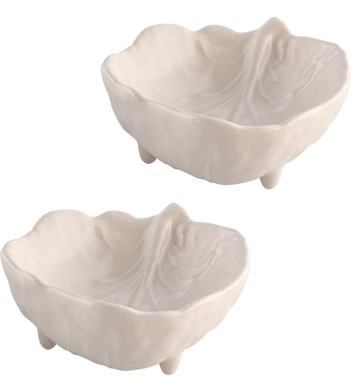 Набор 4 салатника Bordallo Pinheiro Cabbage 9x7.5см Бежевые
