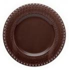 Набор 4 столовых тарелки Bordallo Pinheiro Fantasia Ø29см Коричневые