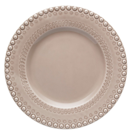 Набор 4 столовых тарелки Bordallo Pinheiro Fantasia Ø29см Бежевые