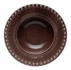 Набор 4 глубоких тарелки Bordallo Pinheiro Fantasia 600мл Коричневые