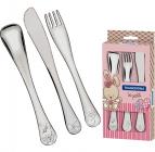 Набір столових приборів Tramontina Baby Le Petit для дітей 3 предмета рожевий