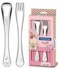 Набір столових приборів Tramontina Baby Le Petit для дітей 2 предмета рожевий