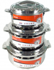 Набір 3 термо-каструлі TOiTO Hot&Cold 2.5л, 3.5л і 5л