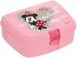 Ланч-бокс Herevin Disney Minnie Mouse 17х12х7см пластик, рожевий