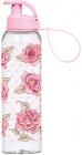 Бутылка спортивная Herevin Pink Rose 750мл с петлей для переноса