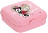 Ланч-бокс Herevin Disney Minnie Mouse 15х15х5см пластик, рожевий