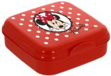 Ланч-бокс Herevin Disney Minnie Mouse 15х15х5см пластик, красный