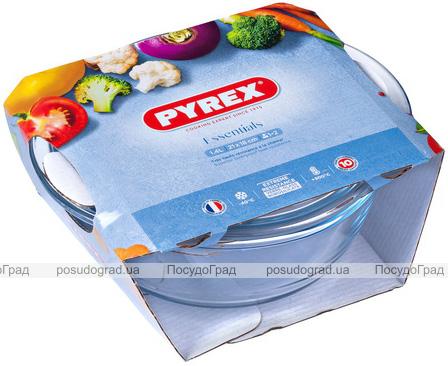Каструля для запікання Pyrex Essentials Ø20см (1.6л) з кришкою, жароміцне скло