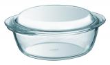 Кастрюля для запекания Pyrex Essentials Ø18см (1.1л) с крышкой, жаропрочное стекло