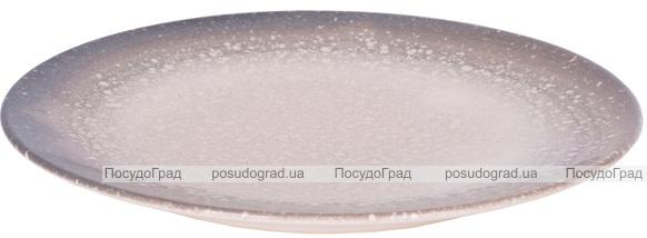 """Набор 6 обеденных тарелок IPEC Monaco """"Космос"""" Ø26см каменная керамика"""