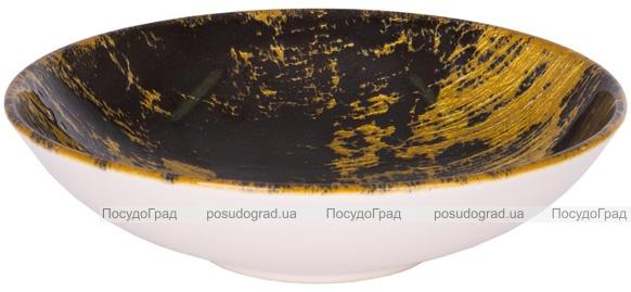 """Набор 6 суповых тарелок IPEC Monaco """"Золото"""" Ø19см каменная керамика"""