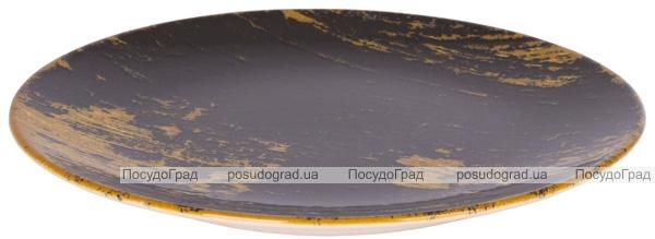 """Набір 6 десертних тарілок IPEC Monaco """"Золото"""" Ø20см кам'яна кераміка"""