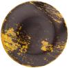 """Набор 6 обеденных тарелок IPEC Monaco """"Золото"""" Ø26см каменная керамика"""