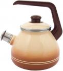 Чайник эмалированный Infinity Cream 3 с индукционным дном, со свистком