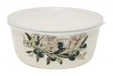 Контейнер для продуктов Infinity Olive эмалированный 700мл с пластиковой крышкой