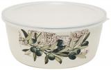 Контейнер для продуктов Infinity Olive эмалированный 1600мл с пластиковой крышкой