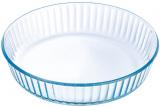 Форма для запікання Pyrex Bake&Enjoy Ø26х6см, жароміцне скло, рифлена