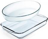 Набір 2 форми для випічки Pyrex Essentials 30х21см, 35х23см, жароміцне скло