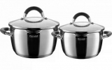Набор кухонной посуды Rondell Flamme 2 кастрюли 3.2л и 5.7л с крышками