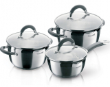 Набір кухонного посуду Rondell Flamme 2 каструлі 3.2л і 5.7л і ківш 1.3л