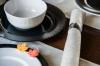 Набор 6 десертных тарелок IPEC Atena Ø21см каменная керамика, серые