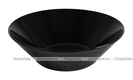 Набор 6 салатников IPEC Cairo Ø18см каменная керамика, черные