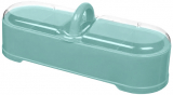 Емкость с 4 секциями Bager пластиковая с крышкой 29х11х11см, голубая