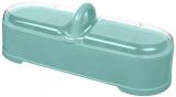Ємність з 4 секціями Bager пластикова з кришкою 29х11х11см, блакитна