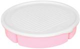 Менажница с крышкой Bager пластиковая на 5 секций Ø25см, розовая