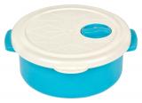 Контейнер с крышкой Bager пластиковый с встроенным клапаном 750мл, голубой