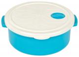 Контейнер з кришкою Bager пластиковий з вбудованим клапаном 1500мл, блакитний