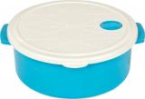 Контейнер с крышкой Bager пластиковый с встроенным клапаном 2700мл, голубой