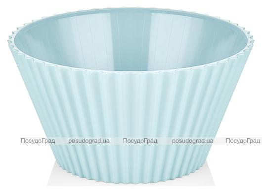 Салатник Bager пластиковый 2000мл, голубой