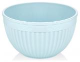 Салатник круглий Bager пластиковий 2000мл, блакитний