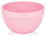 Салатник круглый Bager пластиковый 2000мл, розовый