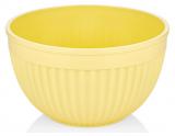Салатник круглий Bager пластиковий 2000мл, жовтий