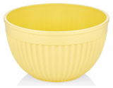 Салатник круглый Bager пластиковый 2000мл, желтый