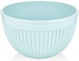 Салатник круглий Bager пластиковий 4000мл, блакитний