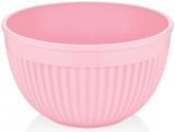 Салатник круглый Bager пластиковый 4000мл, розовый